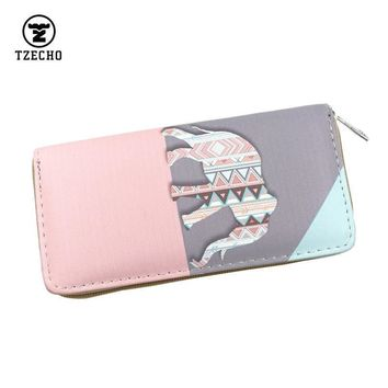 Women elephant Design Wallet Clutch With Multiple Compartments