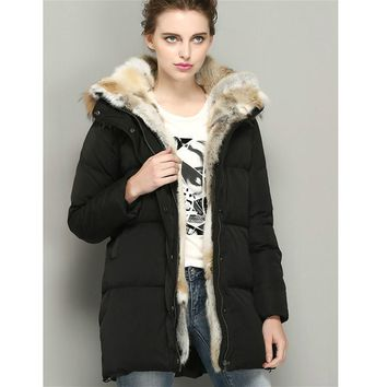 Winter Jacket Womens Down Coat Real Fur Hooded Parkas White Goose Down Coats Female Jackets Warm Parka Brands 2016 High Quality