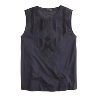 J.Crew Womens Lace Appliqué Tank Top