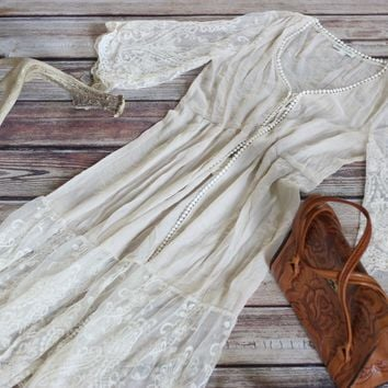 The Tanglewood Lace Duster - Long Lace Cardigan