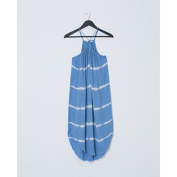 Up and Away Tie-Dye Dress - Blue/white