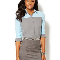 Colorblock Popover Blouse - New York & Company