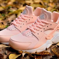 Best Sale Nike AIR HUARACHE RUN PRM sakura Pink WMNS