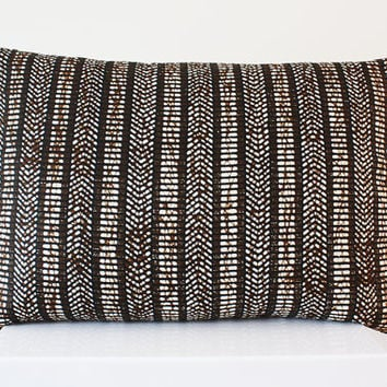 Wax Print Lumbar Pillow - 1950s Vlisco Batik