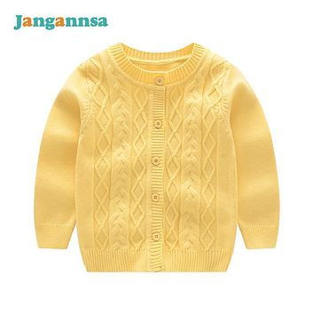 New Solid Knitted Cotton Smile Baby Sweater Long Sleeve Newborn Boys Sweaters Cardigan Coat 2017 Fashion Baby Girls Clothing