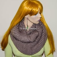 Chunky Knitted Infinity Scarf, Holiday Stocking Stuffer