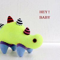 T5  Fluorescent green  plush  Dinosaur  stuffed animal baby Home Decor toys soft dolls   Kids Room Decor  Mint Green