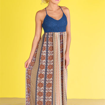 Spellbound Maxi Dress - Navy