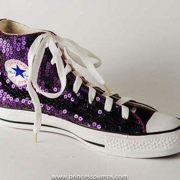 grape purple sequin converse all star hi top