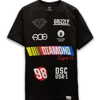 Diamond Supply Co Grand Prix Diamond T-Shirt - Mens Tee - Black