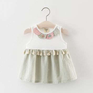 Baby Girls Floral Tassel dress