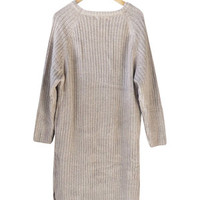 Warm Wishes Dress in Taupe