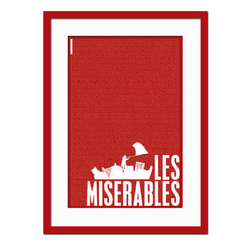 Les Miserables Victor Hugo - Literary Art Print -  Book Lovers Poster - Literature Poster - English Teacher Gift - Literary Classic- Les Mis