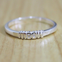 Pro Love - Meow Ring Sterling Silver Sizes 5-8