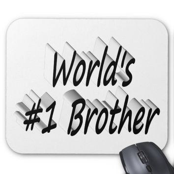 World's #1 Brother 3D Mouse Pads, Black Mouse Pad