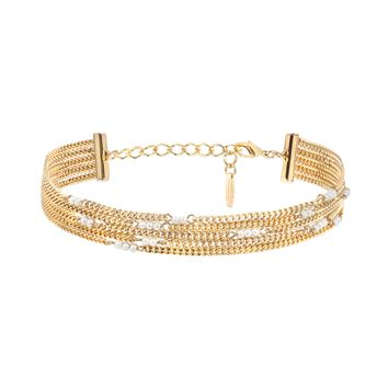 Golden Reign Choker in Pearl and Gold
