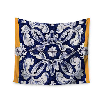 "Oriana Cordero ""Lisboa"" Blue Yellow Wall Tapestry"