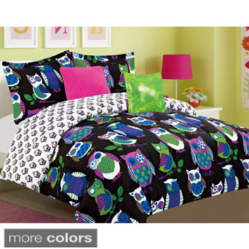 Yukon Night Owls Microfiber 5-piece Comforter Set