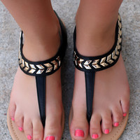 Yet to Come Sandal - Black