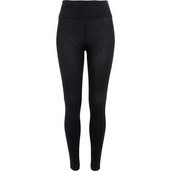 River Island Womens Black high waisted leggings