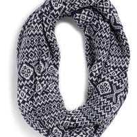 NAVY AND CREAM FAIRISLE SNOOD - Snoods  - Shoes and Accessories