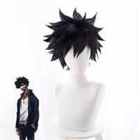 Cool Anime My Hero Academia Dabi Wig Cosplay Costume Boku no Hero Academia Short Black Synthetic Hair Halloween Party Wigs+wig capAT_93_12