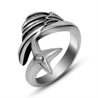 Jewelry Shiny Gift New Arrival Men Titanium Stylish Korean Strong Character A4 Size Ring [6526804675]
