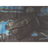Black Leather Unisex Wallet & Key Holder
