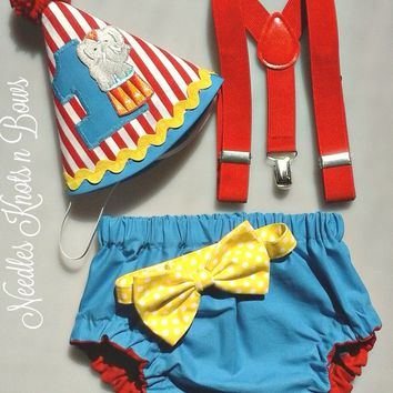 Boys Circus Cake Smash Set, Circus Carnival Birthday, Boys 1st Birthday, Circus Clown Birthday