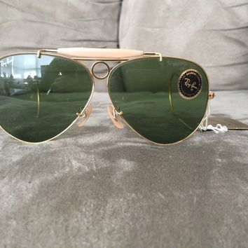 Vintage Ray Ban Bausch And Lomb RB3 Green Shooter Sunglasses (L0564)