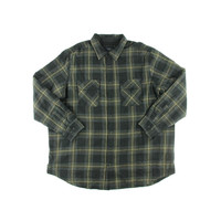 Club Room Mens Big & Tall Fleece Lined Plaid Button-Down Shirt