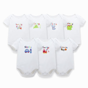 Baby Bodysuits Boy Girl Clothes Similar Clothing Newborn Grows Unisex Brief Purecolor