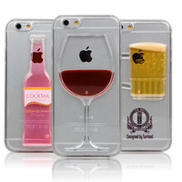 #860155 iPhone 6 iPhone 6 Plus Case Red Wine Beer Cocktail