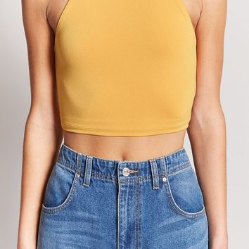 High Neck Crop Cami