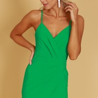 Pleated Tank Dress Kelly Green