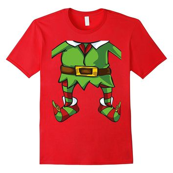 Elf Suit Body Funny Halloween Costume and Christmas T-Shirt