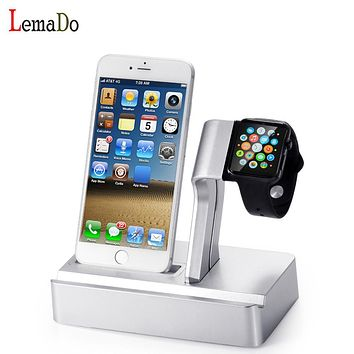 Lemado 3 in 1 Charging Dock Station Triple Holder Stand For Apple watch for iwatch SmartWatch iPhone Mobile Phone iPad Tablet