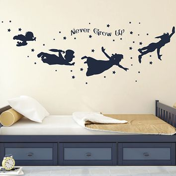 ik2804 Wall Decal Sticker Peter Pan fairy tale of Big Ben room children's bedroom