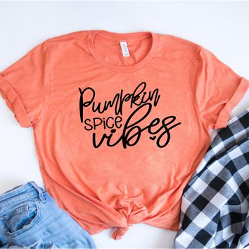 Pumpkin Spice Vibes - Fall Tee - Ruffles with Love - RWL - Unisex Tee - Graphic Tee