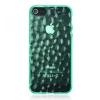 Generic Transparent Water Cube Silica Gel Phone Case For iPhone 5 Color Green