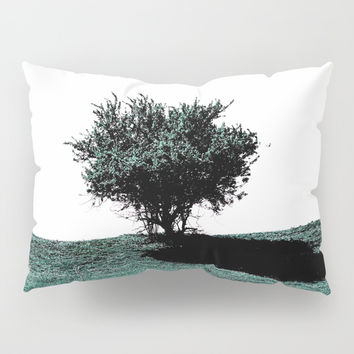Tree On Hill Pillow Sham by ARTbyJWP