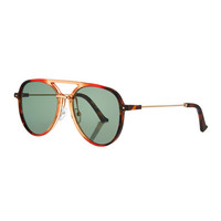 Grey Ant Praph Acetate Aviator Sunglasses, Red