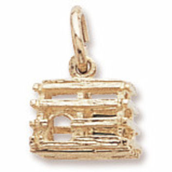 Rembrandt Charms 14kt Gold Lobster Trap Charm #5298