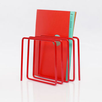 Magazine Rack, Red