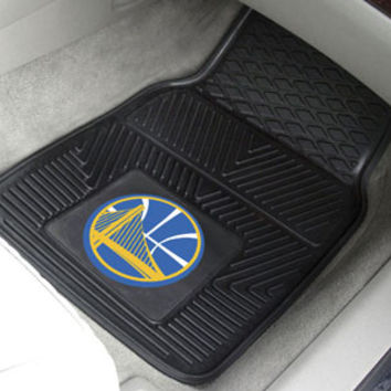 Golden State Warriors 2-pc Vinyl Car Mat Set