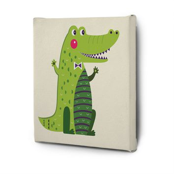 Cute Animals Pictures Series Canvas Wall Art Painting Prints Decor Crocadile
