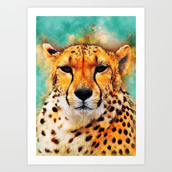 gepard art #gepard #cats #animals Art Print by jbjart
