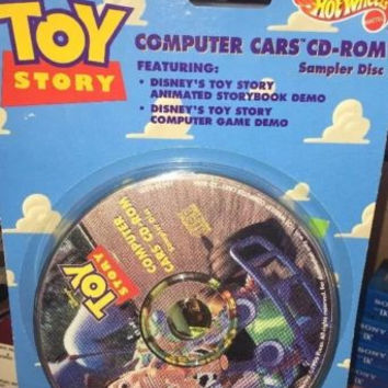 Hot Wheels Disney Toy Story Computer Car 1996 Unopened -CD-Rom RARE VINTAGE