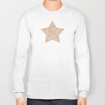 Iced coffee and white zentangles Long Sleeve T-shirt by Savousepate