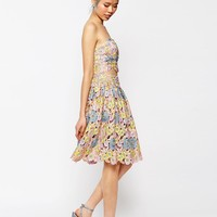 ASOS Premium Prom Skirt in All Over Floral Lace Co-ord